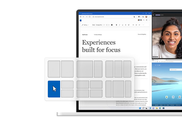 Windows 11 Pencere Yerleştirme Düzeni