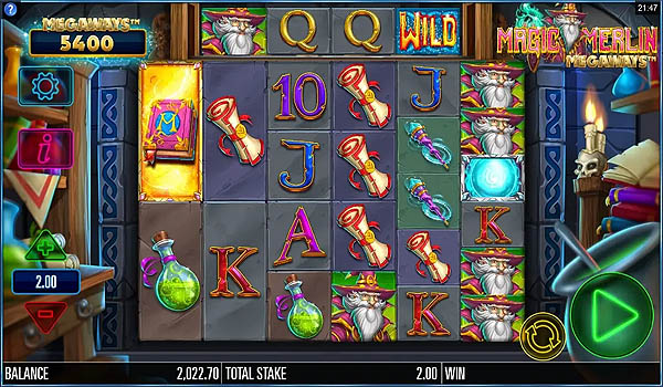 Main Gratis Slot Indonesia - Magic Merlin Megaways Microgaming