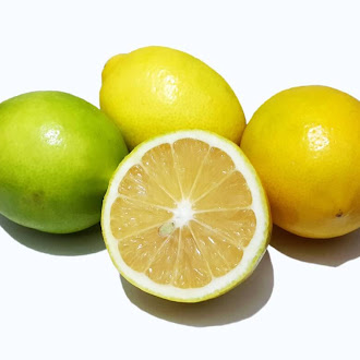 Yellow and Green Lemon, Cut Lemon, Vitamin, Sour, Juicy, Macro
