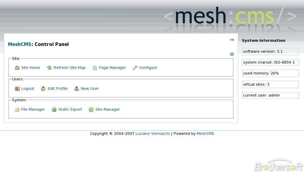 Find Login Portal Access To Meshcms