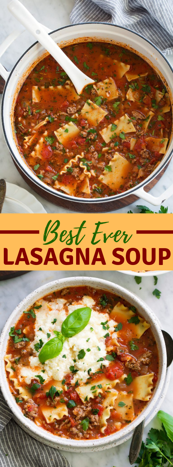Lasagna Soup #dinner #recipe