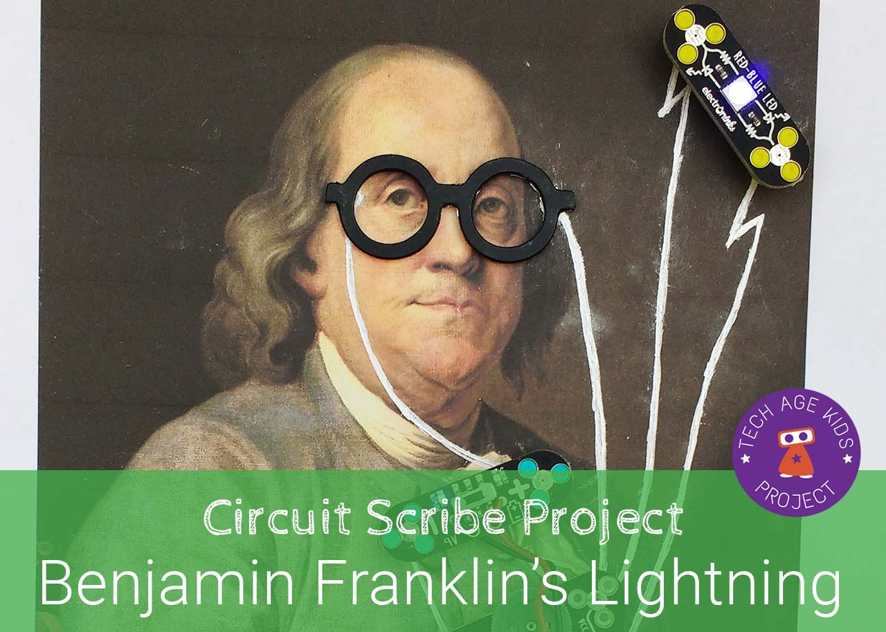 Benjamin Franklin Lightning Project With Circuit Scribe Basic Kit The Contains A Pen
