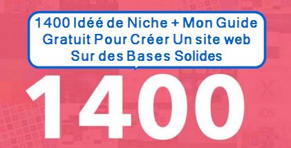 liste de 1400 idée de Niches rentables à télécharger gratuitement