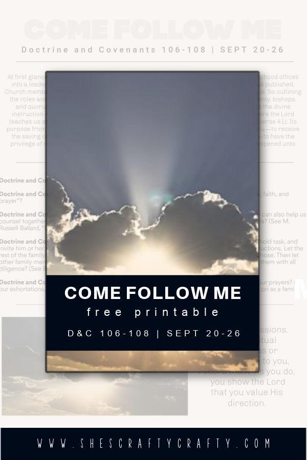 Come Follow Me D&C Free Printable.