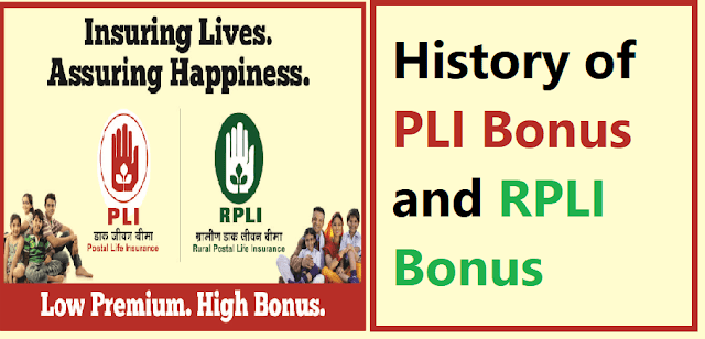 History of PLI Bonus and RPLI Bonus