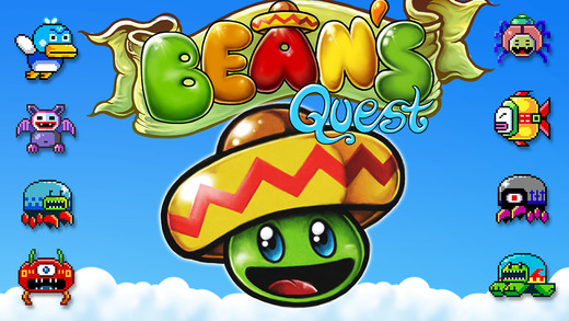 Bean's Quest , Apple's free app of the week brings back retro platforming to your iPhone or iPad with super intuitive controls; touch left or touch right - it's so simple!. Bean's Quest
