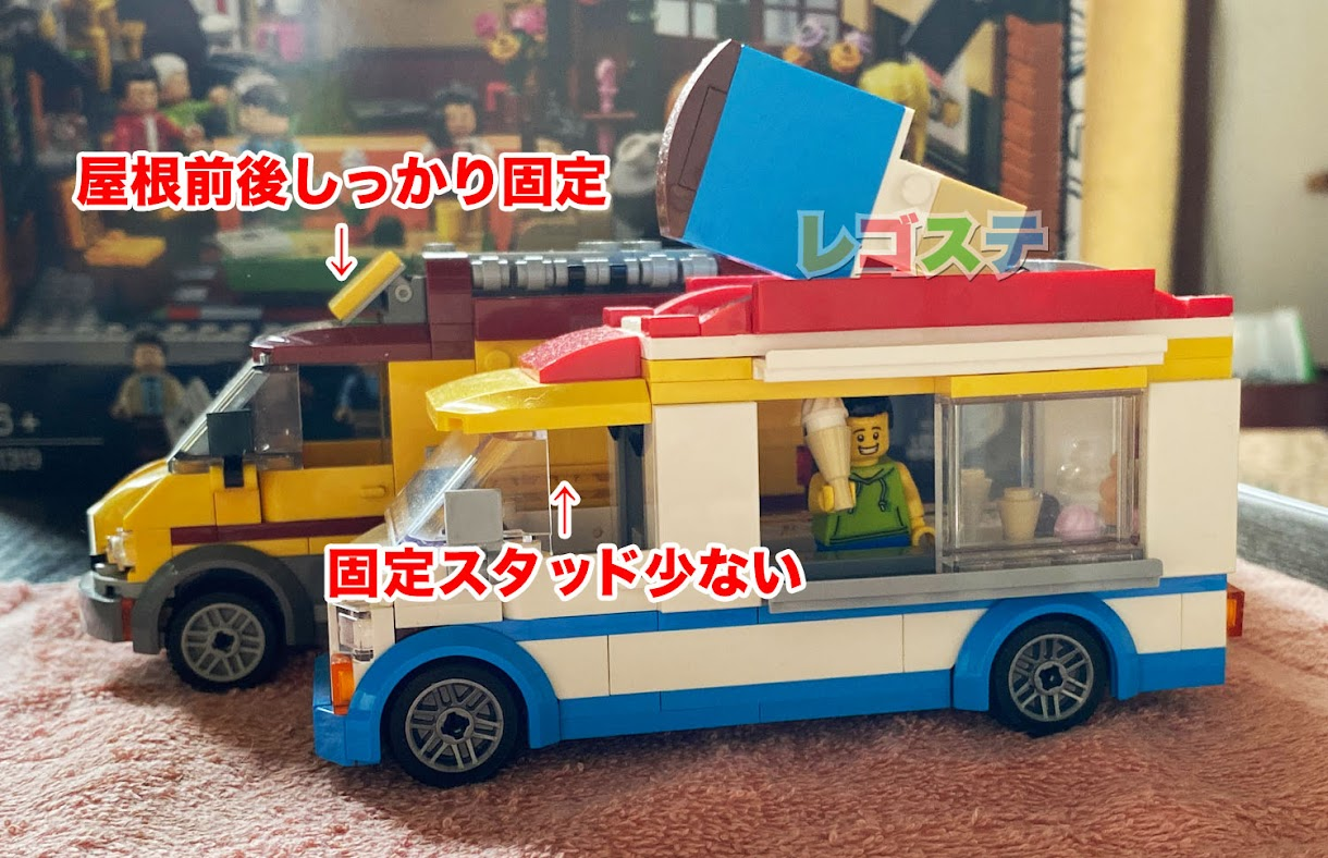 レゴ(LEGO)レビュー:60253 アイスクリームワゴン:シティ:かわいすぎるフードトラックシリーズ!