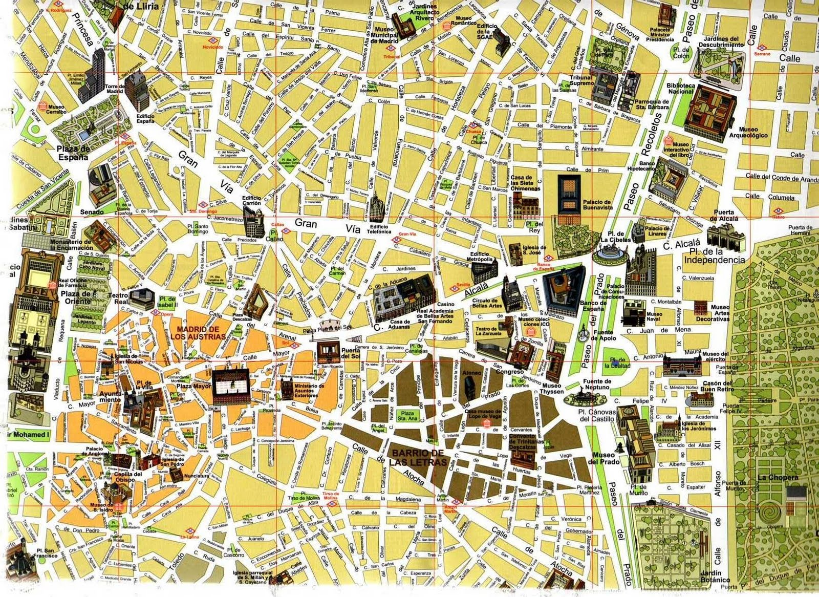 Map Of Madrid Spain