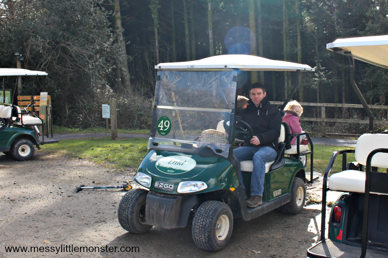 Bluestone Wales Review - hiring a buggy to explore the resort