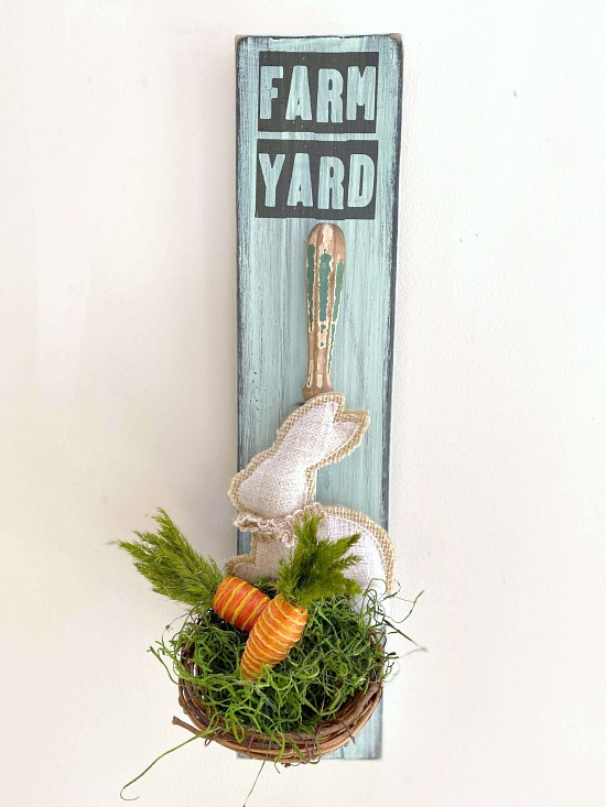 Spring bunny nest from things you have at home