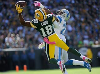 Randall Cobb Sick Catch Against Detroit Lions