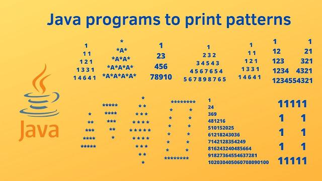 15+ pattern programs in Java programming