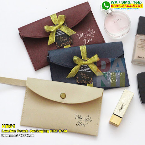 Leather Pouch Packaging Pita Gold