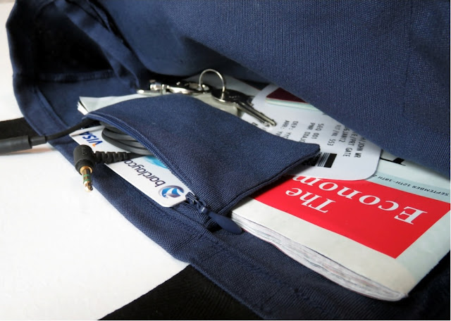 DIY in-flight bag canvas sewing zip change card pocket