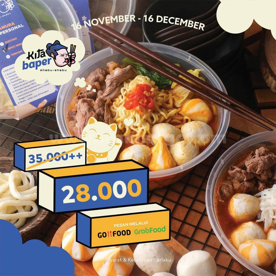 Kitamura Shabu Shabu Promo KitaBaper harga spesial cuma Rp 28.000
