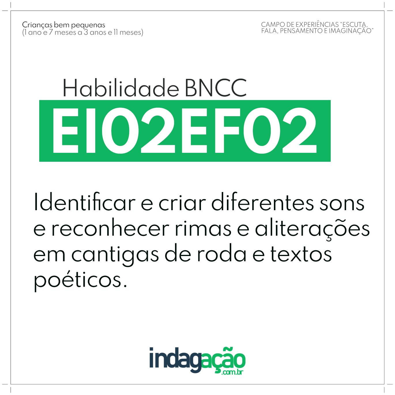 Habilidade EI02EF02 BNCC