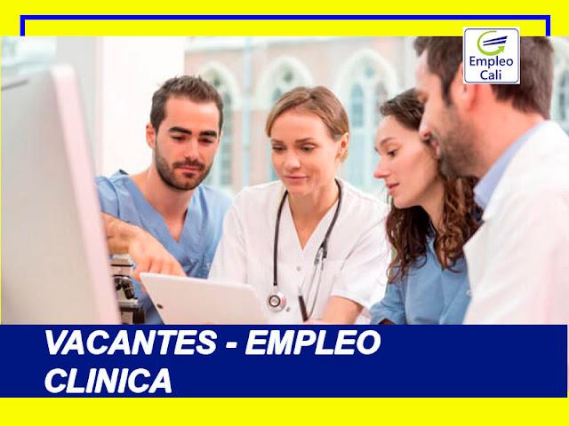 Oferta de Trabajo y Empleo en Cali Varios Clinica