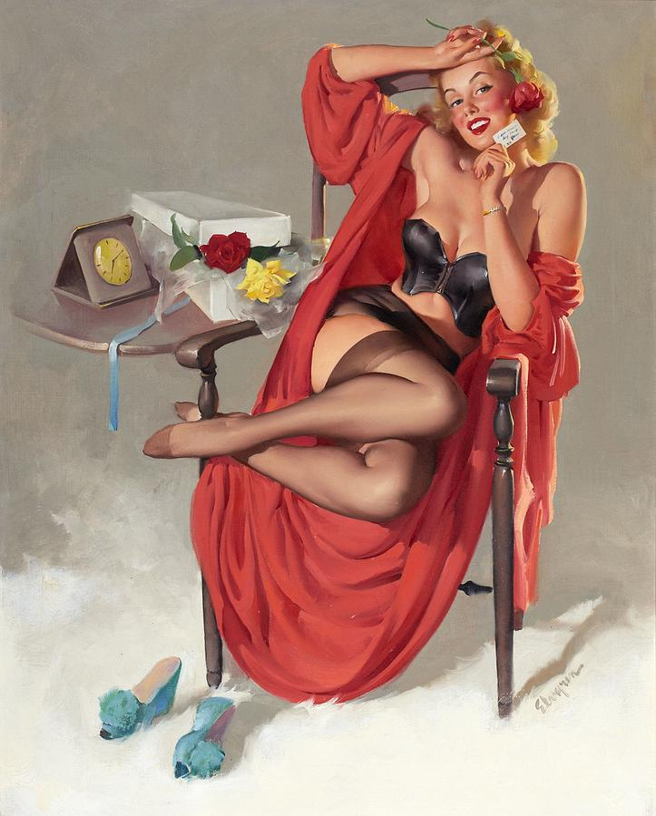 Pin up girls paintings