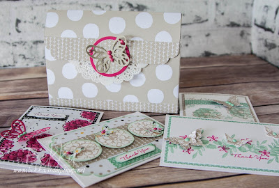What I Love Handbag Of Cards - a cute project by UK Stampin' Up! Demo Bekka - get the info on her blog