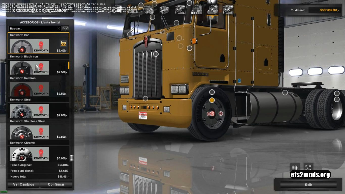 Wheels Pack for Kenworth (ETS2 version)