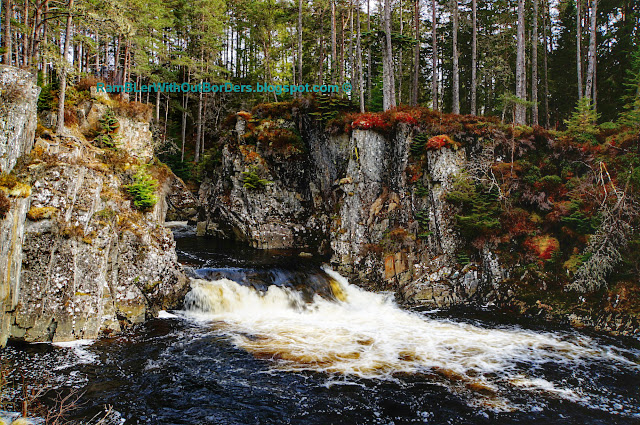 Pattack Falls, Strathmashie Forest, Cairngorms National Park, Scotland, UK