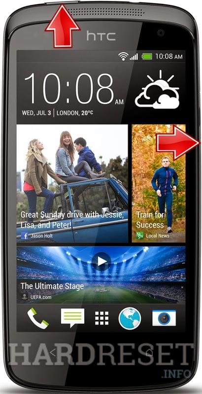 Hard Reset HTC Desire 500 Dual Sim