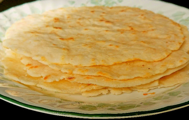 Homemade Dairy Free Flour Tortillas stacked