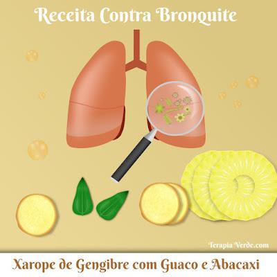 Receita Contra Bronquite: Xarope de Gengibre com Guaco e Abacaxi