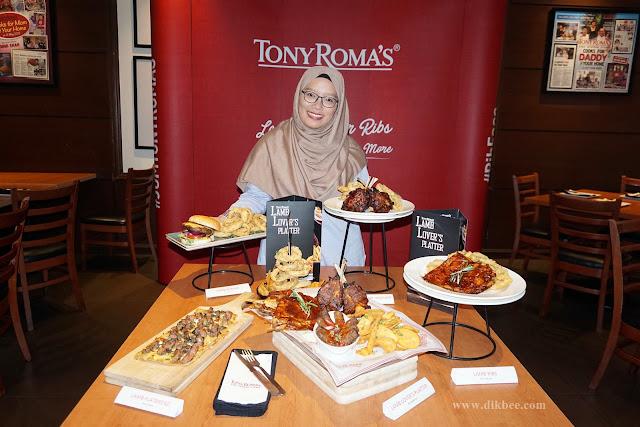 Tony Roma's Perkenal Lamb Lover's Platter