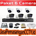 Paket Pasang CCTV 6 Kamera