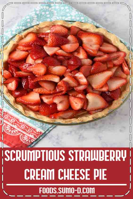 4.9 ★★★★★   Easy recipe for a strawberry cream cheese pie, made with fresh strawberries, a creamy no bake filling, and a simple homemade crust. It's a family favorite! #fresh #StrawberryPie #pioneerwoman
