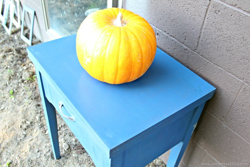 sewing tables decorated for fall | On The Creek Blog // www.onthecreekblog.com