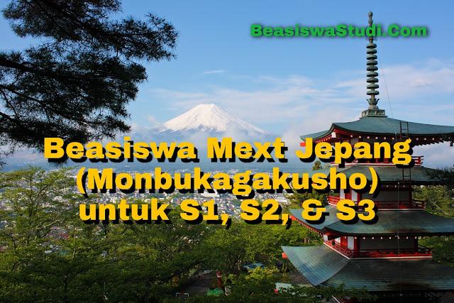 Beasiswa Jepang (Mext / Monbukagakusho) untuk S1, S2, & S3