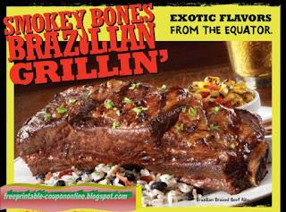 Free Printable Smokey Bones Coupons