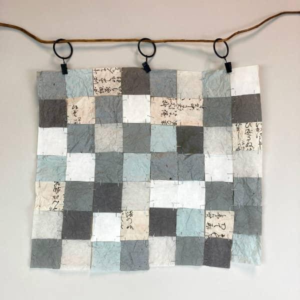 paper patchwork window hanging
