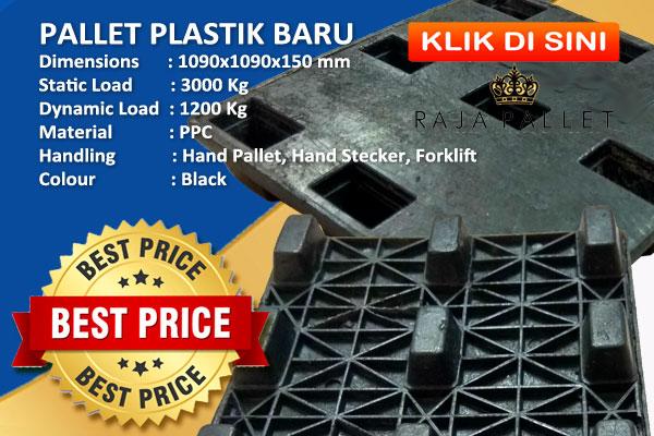 Jual Pallet Plastik Baru Harga Murah Untuk Ekspor dan Pengiriman Logistik