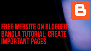 Create important pages for the website