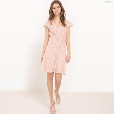 Vestidos cortos de color pastel