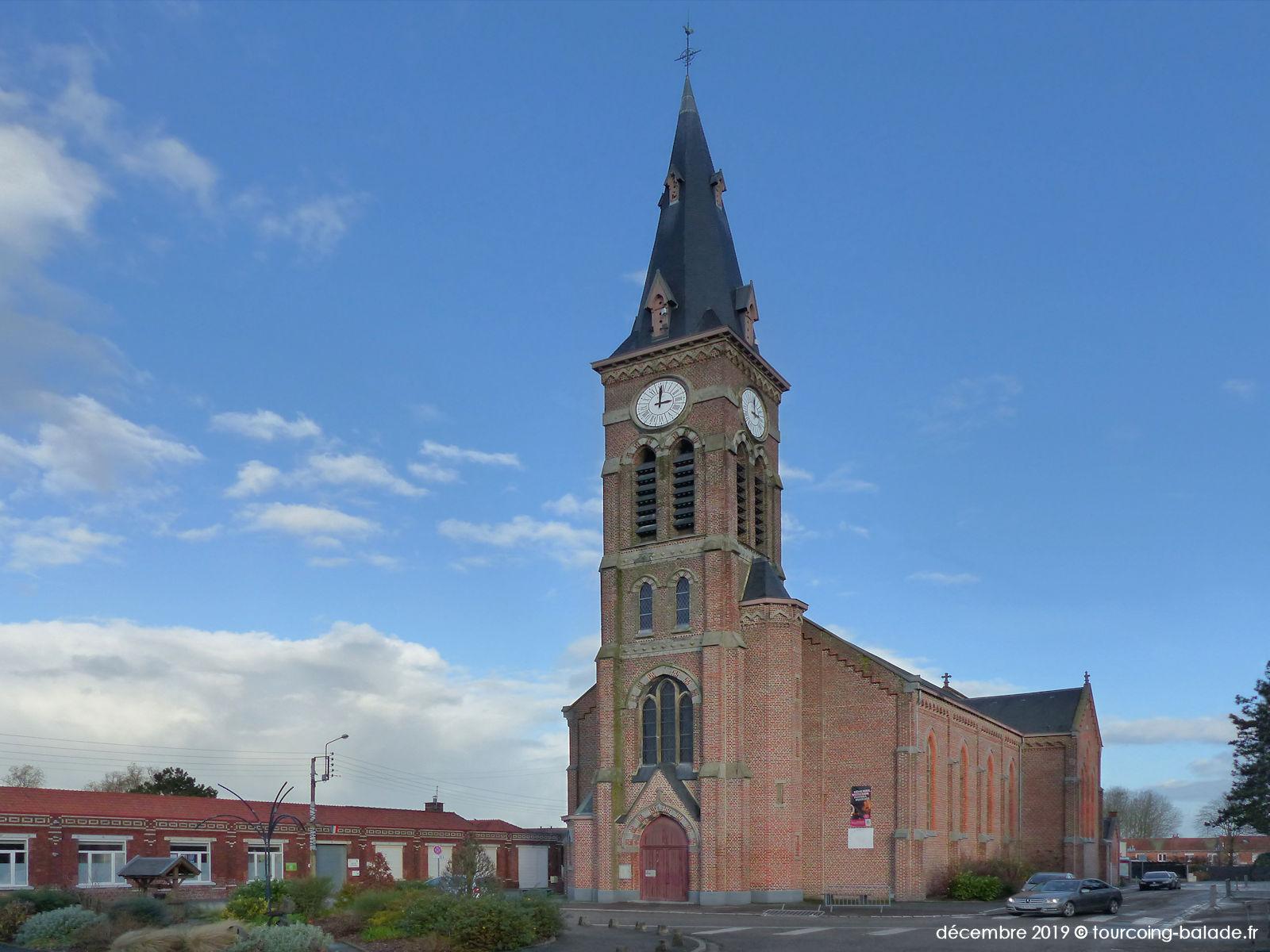 Église Saint-Antoine et place Coulon, Halluin 2019