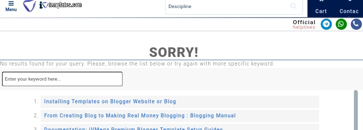 Optimized Blogger No ResultsFound Page Recommended for Good SEO