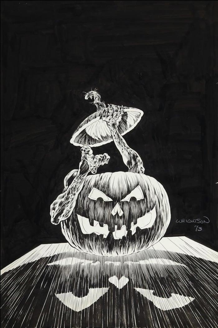 Secrets of Haunted House #5 bronze age 1970s dc horror original cover art by Bernie Wrightson