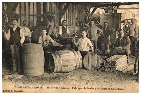 Un atelier de tonnellerie dans le Pays Landais