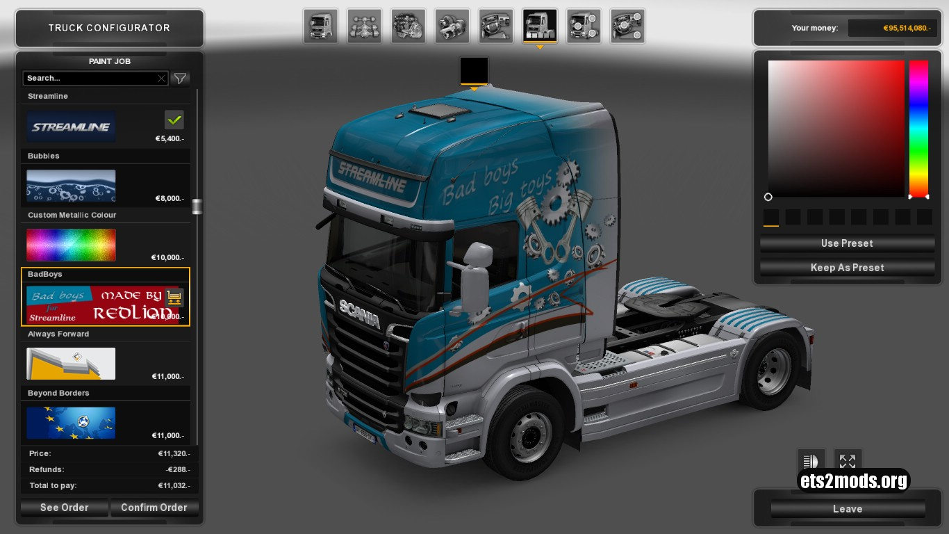 Scania Streamline Badboys Skin