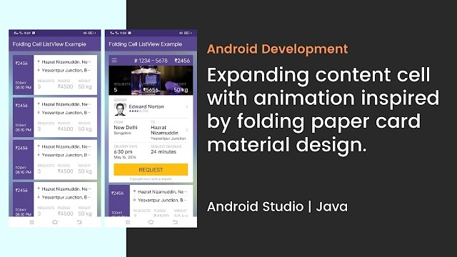Animated Folding Cell in Android Studio (JAVA)