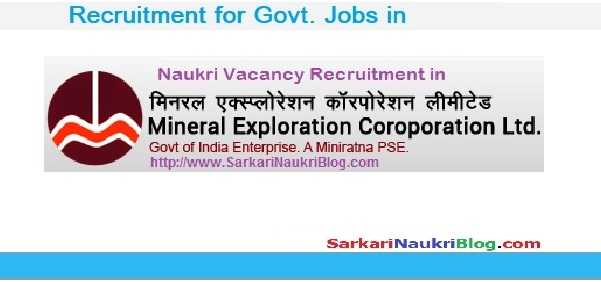 Government Jobs Mineral Exploration Corporation