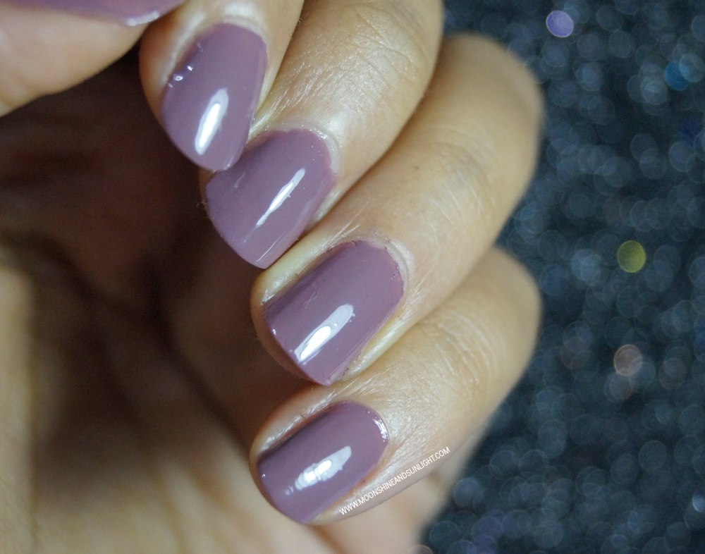 DeBelle Cosmetics Nail Polish | Review & Swatch , Indian Nail art blogger , Majestic mauve