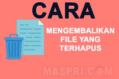 Cara Mengembalikan File yang Terhapus di HP Dengan Sangat Mudah