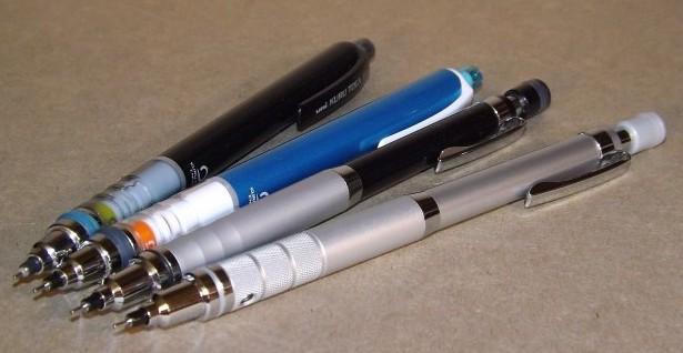 Pens And Pencils: uni Kuru Toga Family of Mechanical Pencils
