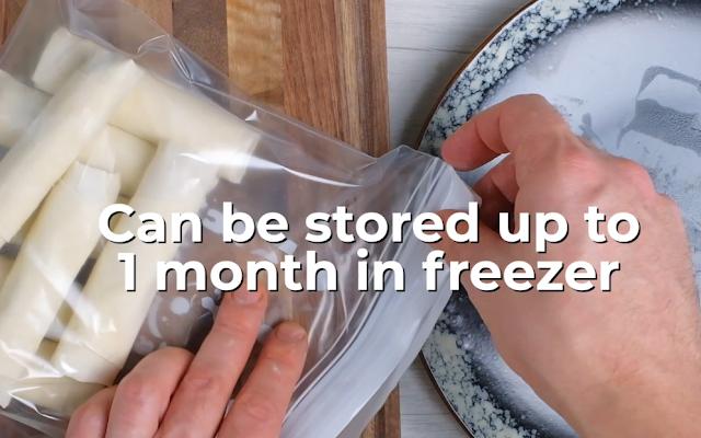 spring rolls in freezer
