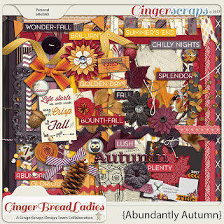 Kit : Abundantly Autumn by GingerScraps designers